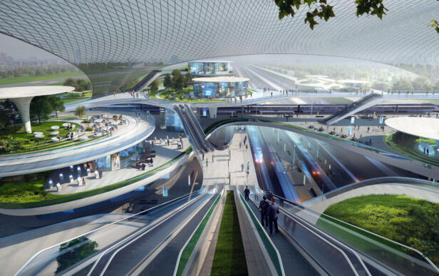 Wizja brytyjskiej firmy Zaha Hadid Architects - trzecia koncepcja Centralny Port Komunikacyjny