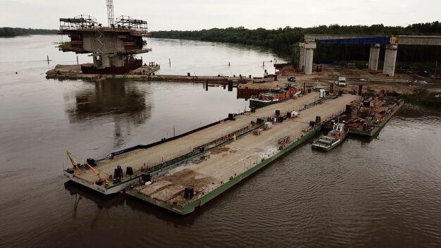 Na budowie mostu szykują się do ewakuacji. Boją się wielkiej wody