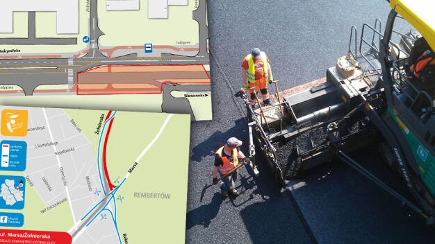 Dźwig, nowa jezdnia, budowa drogi. Utrudnienia w czterech dzielnicach
