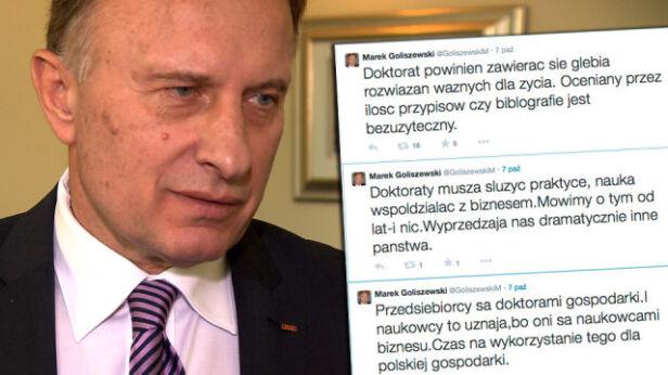 Marek Goliszewski przekonuje, że jego doktorat to wartościowa praca naukowa TVN24