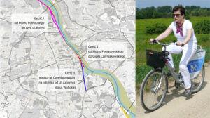 Prezydent na rowerze reklamuje ścieżkę nad Wisłą