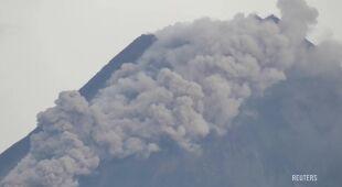 Chmura gazów i pyłów uwolniła się podczas erupcji