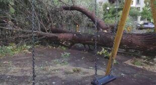 Zniszczenia po burzach w Grecji