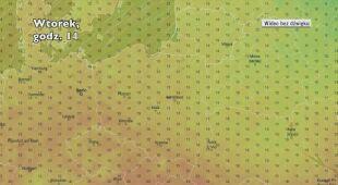 Prognozowana temperatura w ciągu następnych dni